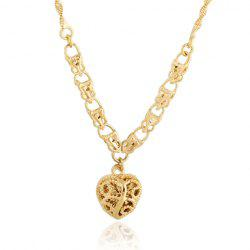 Graceful Solid Color Heart Shape Hollow Out Sweater Chain For Women