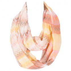 Chic Wavy Stripe Pattern Multicolor Voile Scarf For Women -