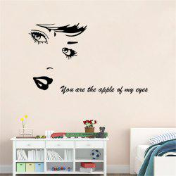 Character Head Portrait Style Removable Wall Stickers for Room Window Decoration
