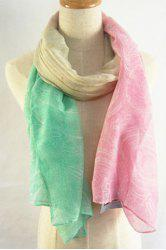Chic Paisley Pattern Cream Color Scarf For Women