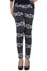 Trendy Women's Christmas Print High Waist Skinny Thick Leggings