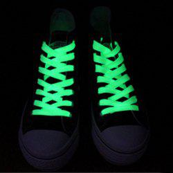 Creative LED Fluorescent Shoelaces Funny Luminous Yarn Shoes Laces- 80cm - GREEN