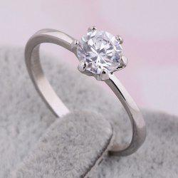 Fake Diamond Wedding Ring - SILVER