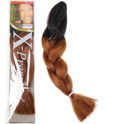 Stunning Long Synthetic Fashion Black Ombre Brown Braided Hair Extension For Women -