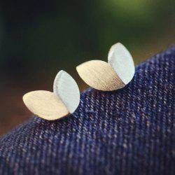 Pair of Alloy Matte Leaf Shape Earrings