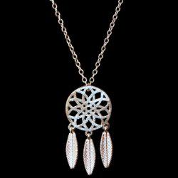 Trendy Solid Color Dream Catcher Necklace -