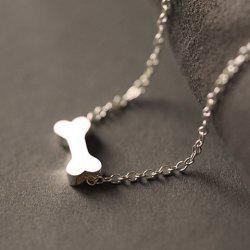 Fashionable Dull Polish Dog Bone Shape Necklace For Women -