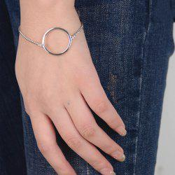 Simple Style Solid Color Geometric Bracelet For Women - SILVER