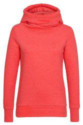 Simple Hooded Long Sleeve Solid Color Slimming Women's Hoodie -