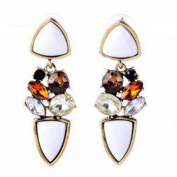Pair of Noble Faux Crystal Artificial Gemstone Irregular Earrings For Women -
