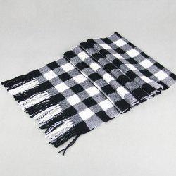 Stylish Classical Tartan Pattern Tassel Scarf For Men
