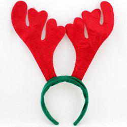 Chic Antler Shape Hairband Christmas Decoration - RED AND GREEN