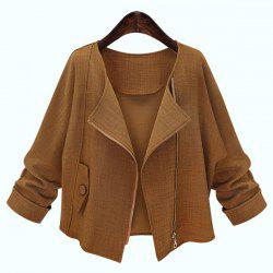 Simple Style Long Sleeve Pure Color Jacket For Women -