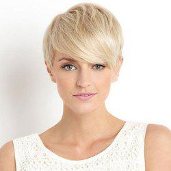 Spiffy Ultrashort Side Bang Synthetic Fashion Straight Two-Tone Mixed Wig For Women -