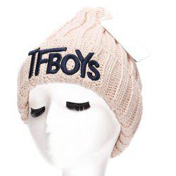 Chic Name Letters Embroidery Thicken Knitted Beanie For Women -