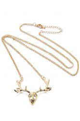 Chic Christmas Deer Head Sweater Chain For Women -