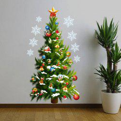 Sweet Christmas Tree Pattern Removeable Waterproof Decorative Wall Sticker -