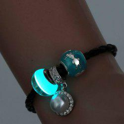 Trendy Faux Pearl Noctilucence Bead Bracelet For Women -