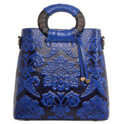 Vintage Style Embossing and PU Leather Design Women's Tote Bag