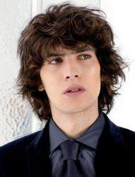 Handsome Short Synthetic Shaggy Curly Vogue Deep Brown Full Bang Capless Wig For Men - DEEP BROWN