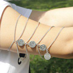 Vintage Round Coin Arm Chain Jewelry - SILVER