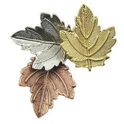 Alloy Maple Leaf Brooch - COLORMIX