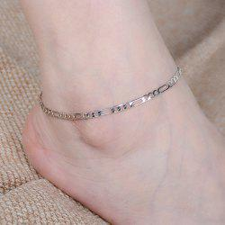 Simple Style Solid Color Chain Fancy Anklets - SILVER