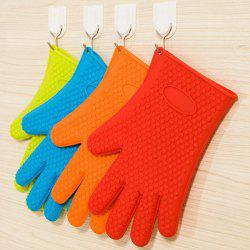 One Piece Solid Quality Couleur Silicon Glove Four - Couleur Aléatoire