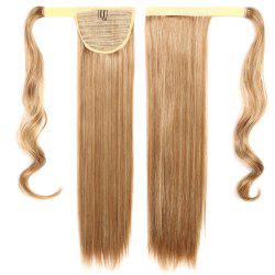 Fashion Mixed Color Capless Stunning Long Silky Straight Synthetic Ponytail For Women -