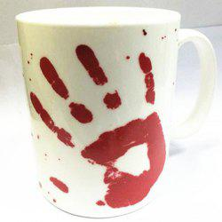 Creative Bloodstain Mug Heat Discoloration 400ml Coffee Tea Cup