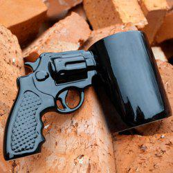 Cool Revolving Pistol Design Black Coffee Tea Cup For Office -
