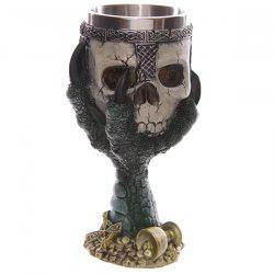 Creative Goblet Cup Skull Shape Design Stainless Steel 200ml Cup -