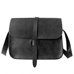 Strap Faux Leather Crossbody Bag -