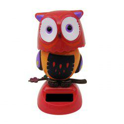Solar Energy Shaking Owl House Decoration Christmas Gift - RED
