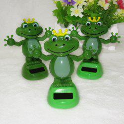 Solar Energy Shaking Frog House Decoration Christmas Gift