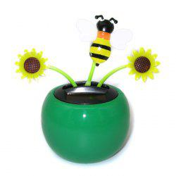 Solar Energy Shaking Sunflower Mix-color House Decoration Christmas Gift - GREEN