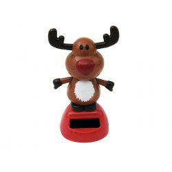 Solar Energy Shaking Cow House Decoration Christmas Gift -