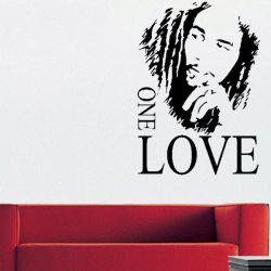 Creative Figure Letters One Love 43*61cm Wall Stickers For Home Decoration