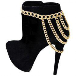 Graceful Pure Color Layered Boot Bijoux Chain Link femmes - Or