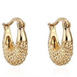 Pair of Vintage Fish Shape Hollow Out Earrings - GOLDEN