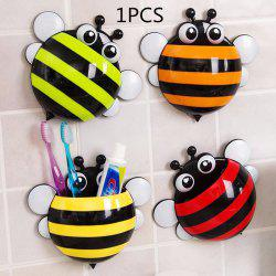 Multifunctional Bee Shape Toothbrush / Spoon / Fork Holder for Bathroom / Kitchen - RANDOM COLOR