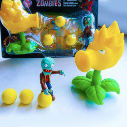 Plants vs. Zombies Shooter Son Gokou Educational Toy Gift Toy with Zombie 3 Ball
