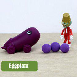 Plants vs. Zombies Shooter Eggplant Educational Toy Gift Toy with Zombie 3 Ball -