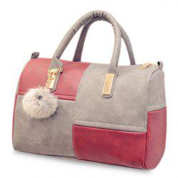 Trendy Metal and Colour Block Design Women's Tote Bag - GRAY