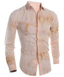 French Front Long Sleeve Tie Dye Design Shirt -