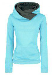 Casual Style Hooded Long Sleeve Pure Color Fleece Women's Pullover Hoodie