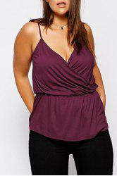 Casual Style Spaghetti Strap Sleeveless Solid Color Ruched Women's Tank Top