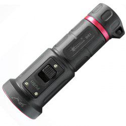 SolarStorm D01 Cree XM - L2 U2 900LM 18650 Diving LED Flashlight - BLACK