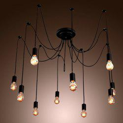 E27 Socket Edison Retro Style Pendant Lamp Holder - Noir