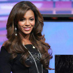 Graceful Long Shaggy Curly Stylish Centre Parting Lace Front Real Natural Hair Wig For Women -
